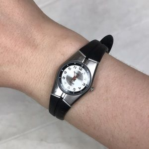 Armitron black silver watch Japan water resistant